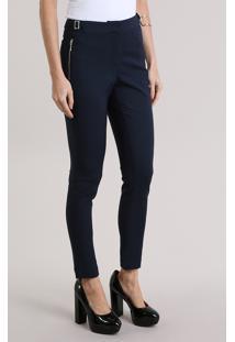 Calça Skinny Azul Marinho