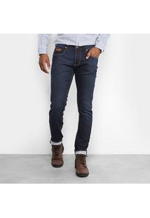 Calça Jeans Skinny Forum Igor Escura Estonada Masculina - Masculino