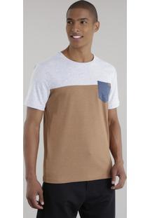 Camiseta Com Recorte Caramelo