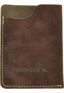 Carteira Couro Sergio K Pocket Marrom
