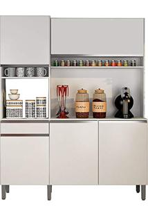 Armário De Cozinha 5 Portas E 1 Gaveta Sevilha Branco Sallêto Móveis