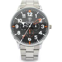 Relógio Tuguir Analógico 5002 Prata E Preto 8f7761085bf42