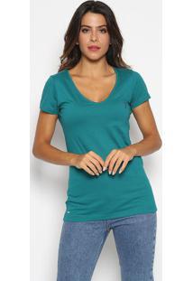 Camiseta Com Bordado - Verde & Roxaaleatory