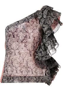 Rosie Assoulin Blusa Assimétrica Com Babado - Estampado