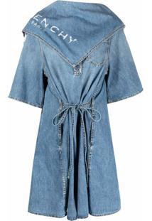 Givenchy Chemise Com Detalhe De Lenço E Efeito Destroyed - Azul