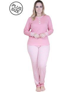 Pijama Paulienne Longo Listrado