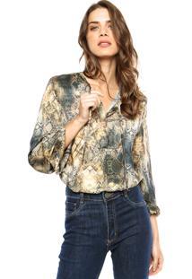 Camisa Lança Perfume Fenda Multicolorida