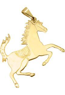 Pingente Cavalo Tudo Jóias Folheado Dourado