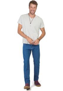 Calça Jeans Reta Basic Stone New