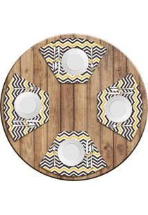 Jogo Americano Para Mesa Redonda Wevans Stripes Kit Com 6 Pçs Love Decor - Kanui