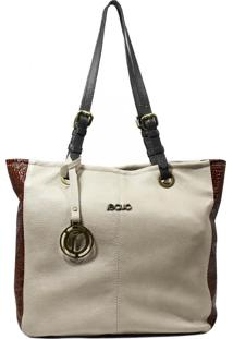 Bolsa Em Couro Recuo Fashion Bag Baú Cacau/Croco Pinhão