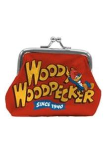 Porta Moedas Woody Woodpecker Fundo Vermelho - Pica Pau
