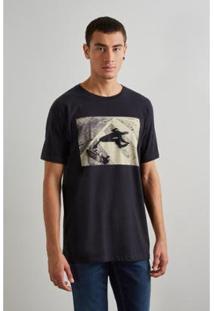 Camiseta Reserva Sk8 Masculino - Masculino-Preto