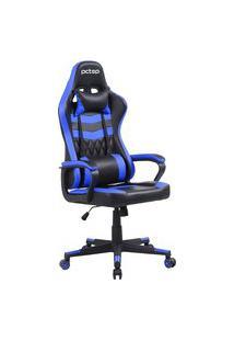 Cadeira Gamer Elite Reclinável Com 2 Almofadas Pctop Se1010 Azul