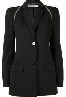 Alexander Wang Tailored Zipper Detail Blazer - Preto