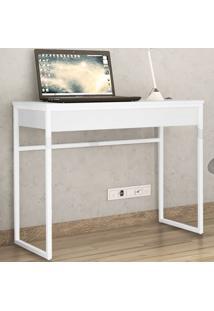 Mesa Escrivaninha Brisa 1 Gaveta Branco - Brastubo