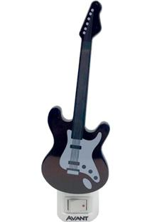 Luminária Led Noturna Guitarra 1W Bivolt 3000K Luz Amarela