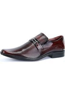 b8d6cf494 Dafiti. Sapato Verniz Couro Bico Fino Masculino Marsala Vinho Social Em  Sapatofran Texturizado