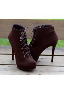Ankle Boot Dm Extra Nobuck Marrom Numeração Especial Dme1774156-15 Tamanho 41 42 43 44