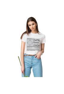 Camiseta Feminina Mirat Data Base Branco