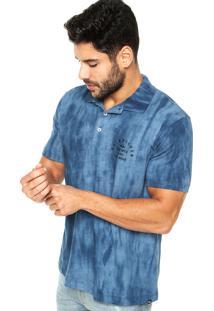 Camisa Polo Quiksilver Final Leg Azul