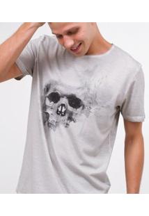 Camisa Com Estampa De Caveira