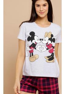 Pijama Feminino Mickey E Minnie Xadrez Disney