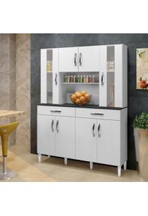 Armário De Cozinha Branco 08 Portas 02 Gavetas - Arte Móveis