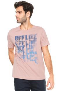 Camiseta Aramis Offline Rosa