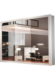 Guarda-Roupa Veneza Luxo - 3 Portas Espelhadas - Branco