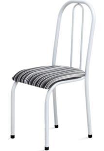 Cadeira Marcheli Baixa 0.104 Anatômica Branco/Listrado