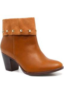 Bota Via Marte Ankle Boot Spike Zíper 17-20001
