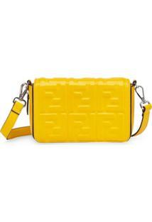 Fendi Bolsa Tiracolo Com Estampa Ff - Amarelo