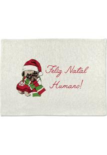 Tapete De Pano Para Banheiro Feliz Natal Humano Único