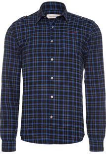 Camisa Masculina La Xadrez - Azul Marinho