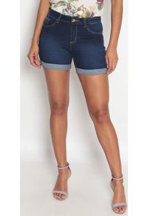 Bermuda Jeans Lisa Barra Dobrada- Azulfio Brasil