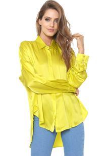 Camisa Forum Ampla Seda Amarela