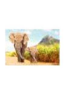 Painel Adesivo De Parede - Elefantes - Animais - 1730Pnm