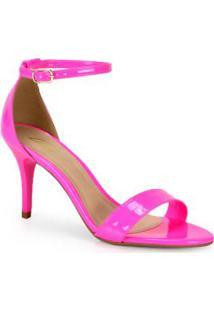 Sandália Salto Lara Neon Pink