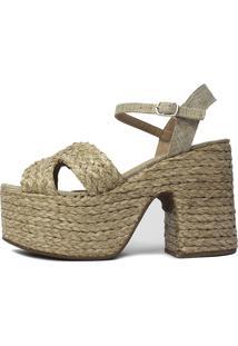 Sandália De Corda Damannu Shoes Susan Fendi Bege
