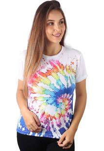 Camiseta Baby Look Espiral Splash Tie Dye Md07