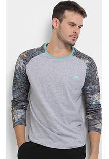 Camiseta Hd Especial Sleeve Glitch Manga Longa Masculina - Masculino