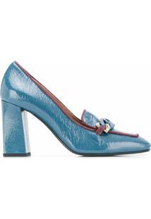 Pollini Scarpin Com Detalhe De Corrente - Azul