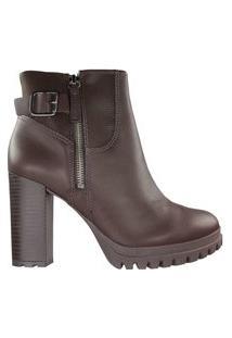 Bota Feminina Dakota Ankle Boot Marrom
