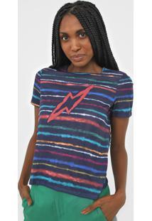 Camiseta Cantão Espectro Azul-Marinho