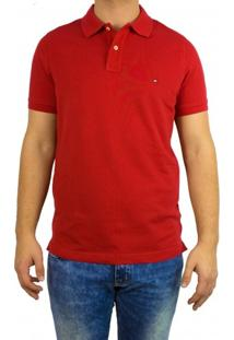 Camisa Polo Masculina Tommy Hilfiger Slim Fit Th0857879131