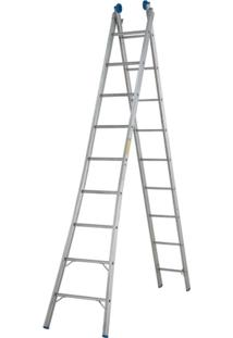 Escada Extensível 2X9 18 Degraus - Unissex