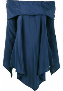 Sies Marjan Blusa Um Ombro Só Assimétrica De Seda - Azul