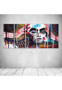 Quadro Decorativo - Face Modern Art - Composto De 5 Quadros - Multicolorido - Dafiti