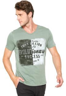 Camiseta Hering Estampada Verde